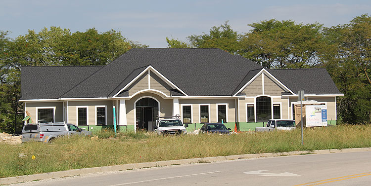 Photo of new dental practice under construction
