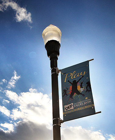 Photo of downtown Play Banner