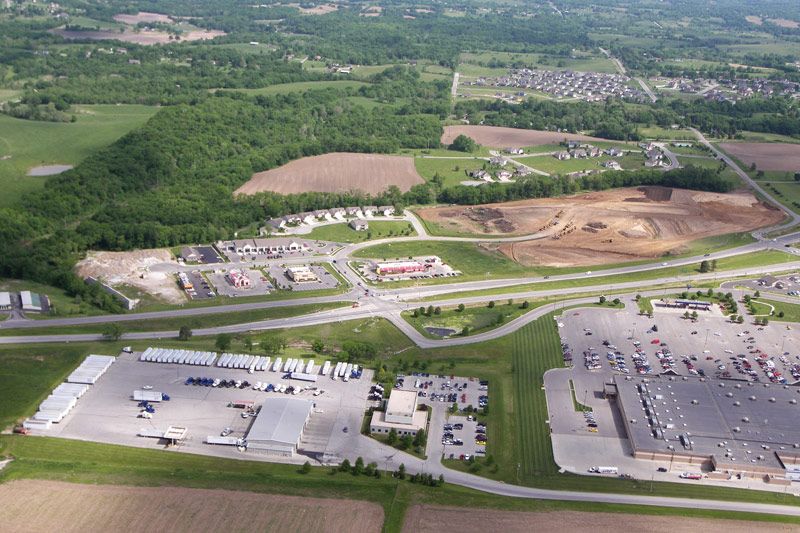 Excelsior Springs business development aerial along 69 Highway