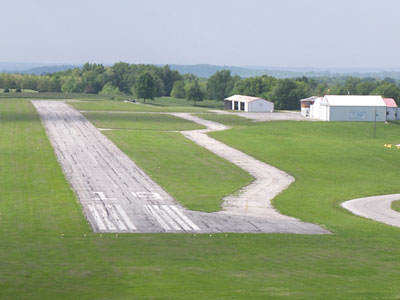 Excelsior Springs Airport landing strip photo