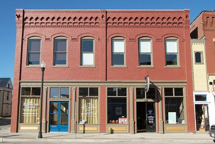 Photo of two commercial buildings restored