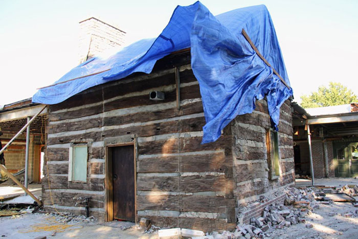 Photo O'Dell Cabin preservation project