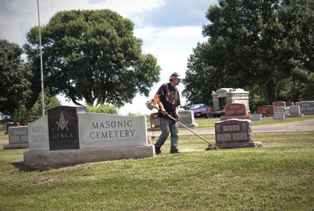 Fall Cemetery Clean Up