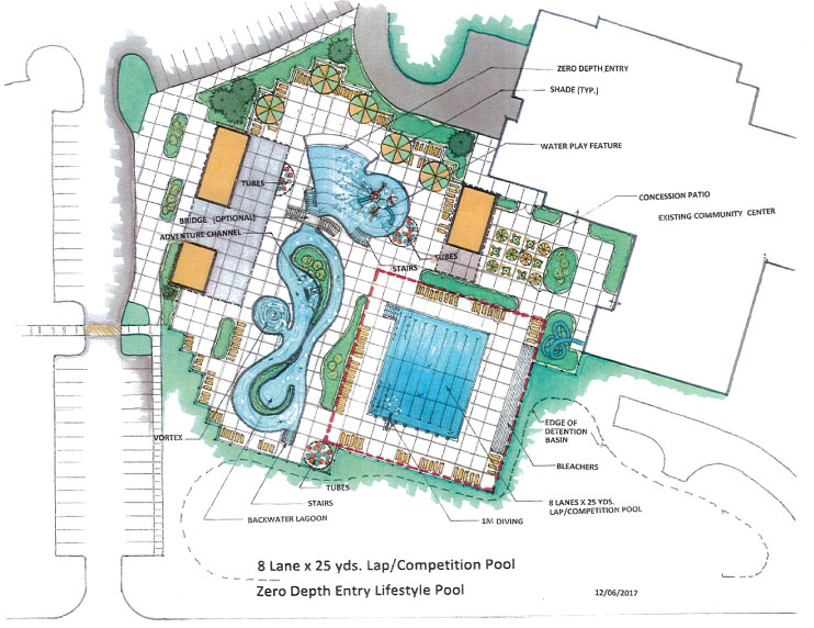 Sketch Proposed Community Center Outdoor Pool