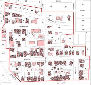 Thumbnail Boardin House National Register Map