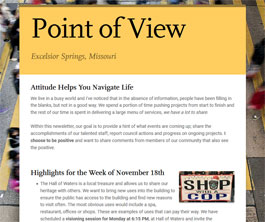 Point of View Newsletter v1 issue 1 one