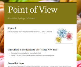 Point of View Newsletter v1 issue 7