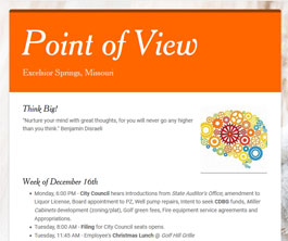 Point of View Newsletter v1 issue 5