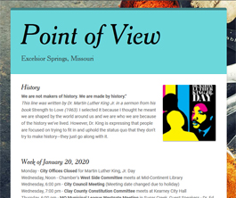 Point of View Newsletter v2 issue 1