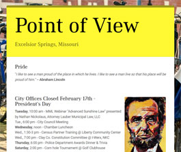 Point of View Newsletter v2 issue 7