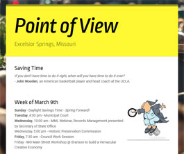 Point of View Newsletter v2 issue 10
