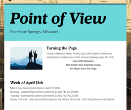 Point of View Newsletter v2 issue 15