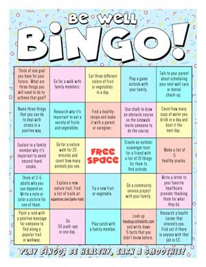 Thrive Bingo Card artwork