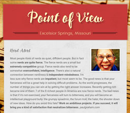 Point of View Newsletter v3 issue 20
